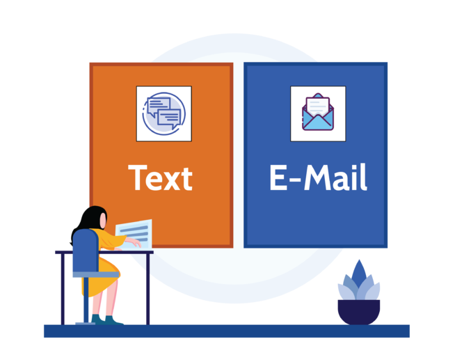 text & email for reservation feature