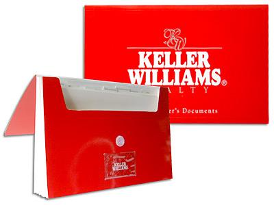 Printing promotional items dataguide for Keller williams folders