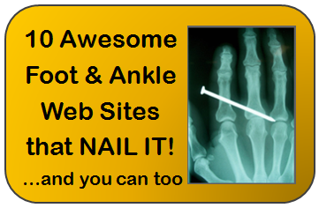Best examples practices of foot and ankle web sites