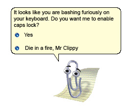 Frustrated Clippy Image