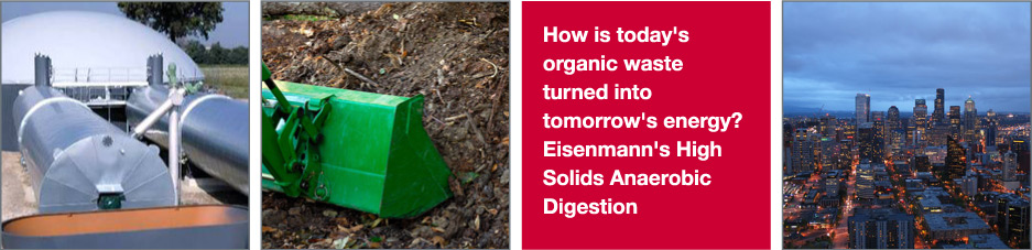 How is today's organic waste turned into tomorrows energy?  Eisenmann's High Solids Anaerobic Digestion.