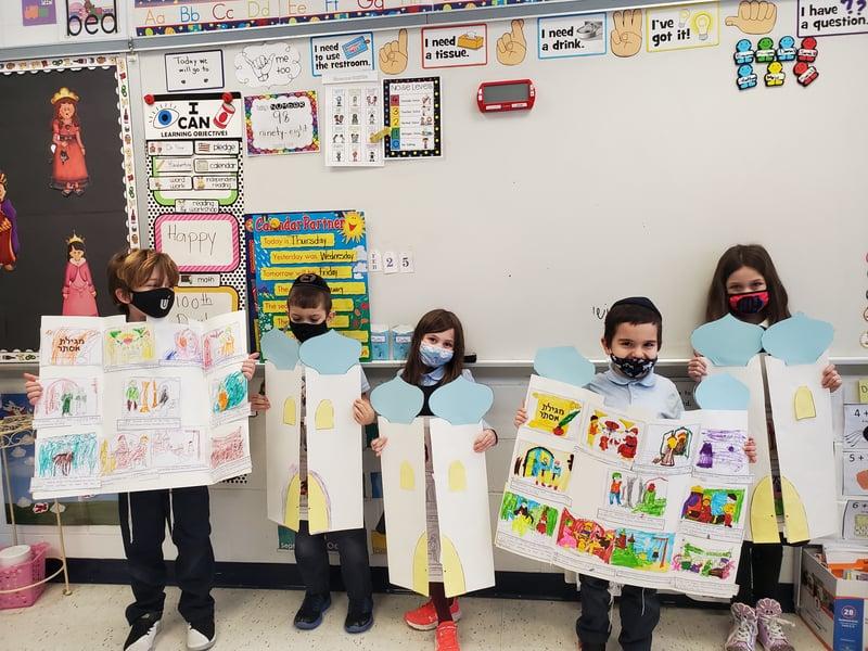 ElementaryClassroomStudentsShowingWork