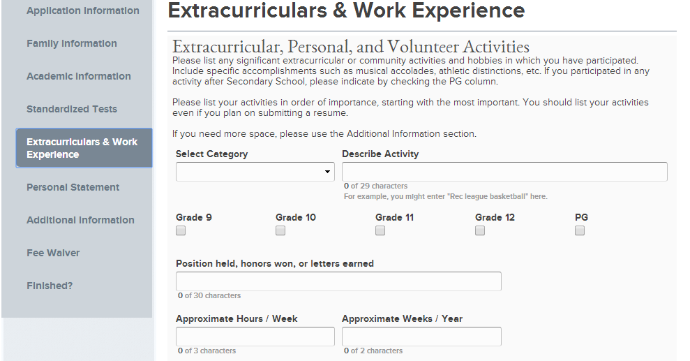 Extracurricular Activities Resume Sample