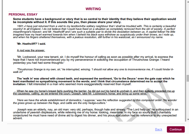 common app admissions essay