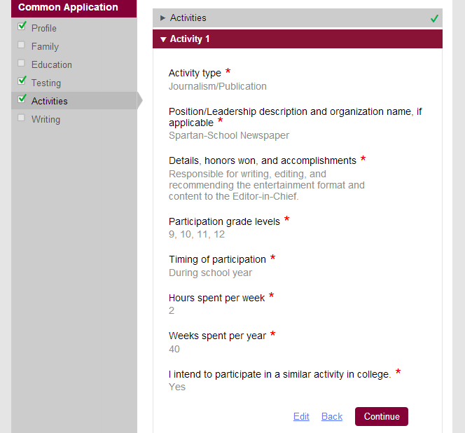common app resume format juve cenitdelacabrera co