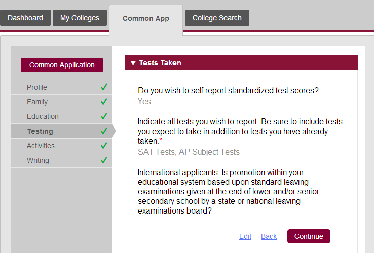 what to know before submitting the new common app part  describe the image