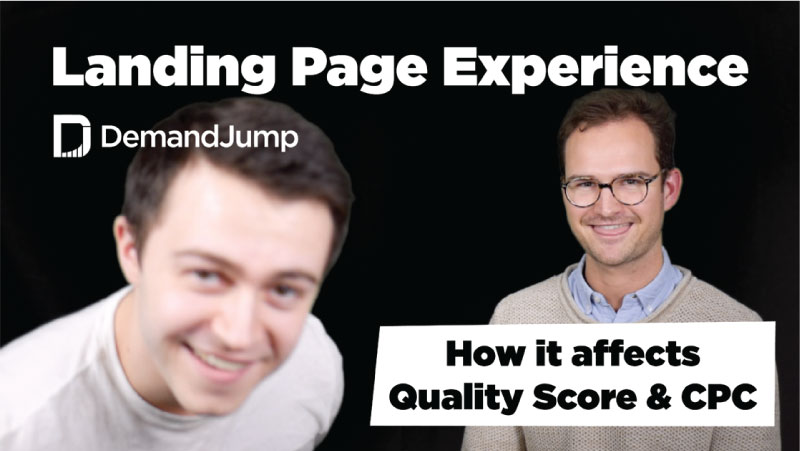 How landing page experience affects quality score