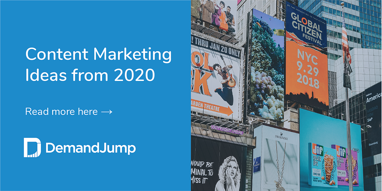 content marketing ideas from 2020