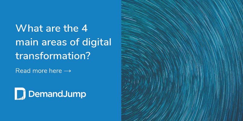 What are the 4 main areas of digital transformation