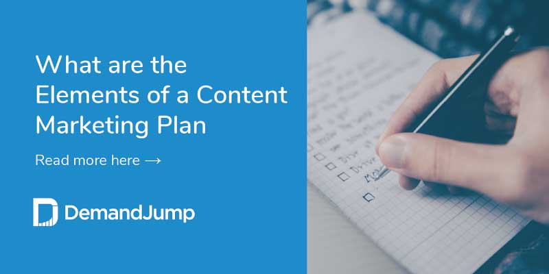 what are the elements of a content marketing plan