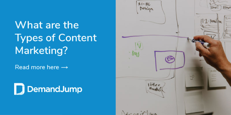 what are the types of content marketing