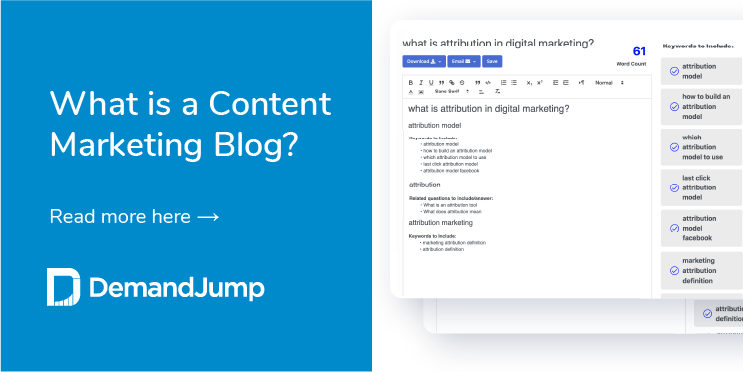 what is a content marketing blog
