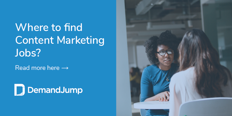 where to find content marketing jobs