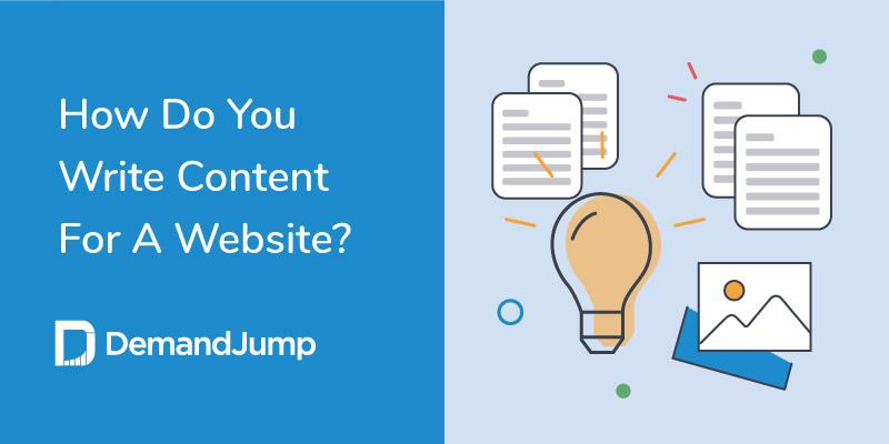 how do you write content for a website