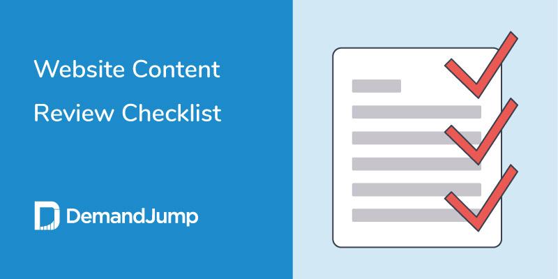 website content review checklist