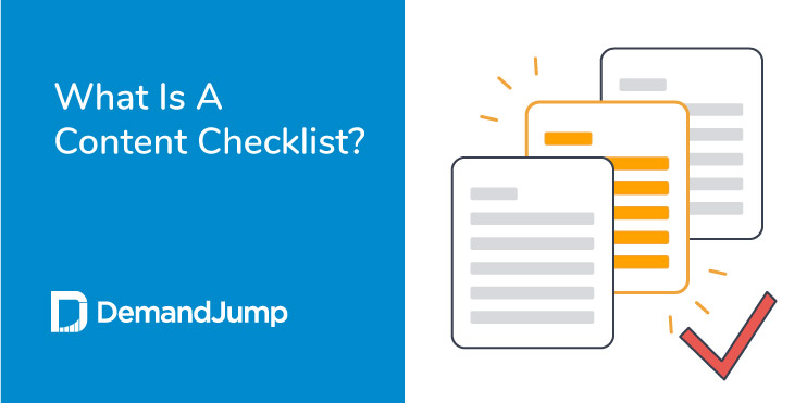 what is a content checklist