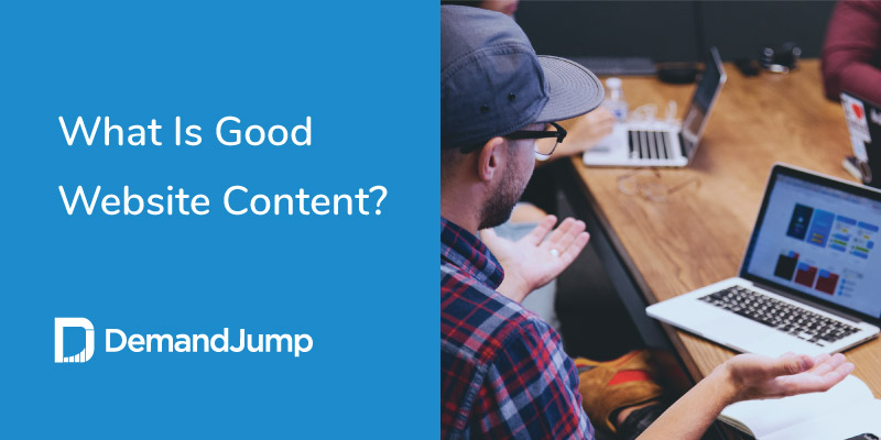 what is good website content