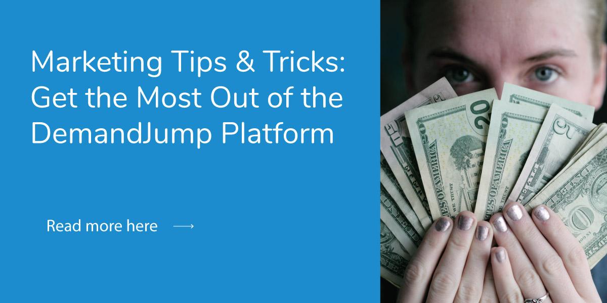 woman holding money she made using the DemandJump platform