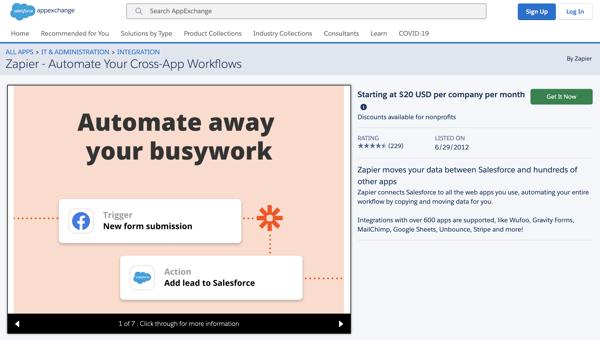 Zapier on Salesforce