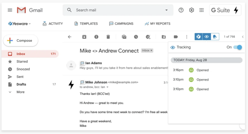 Yesware in Gmail