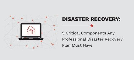 5 Critical Components Any Professional Disaster Recovery Plan Must Have