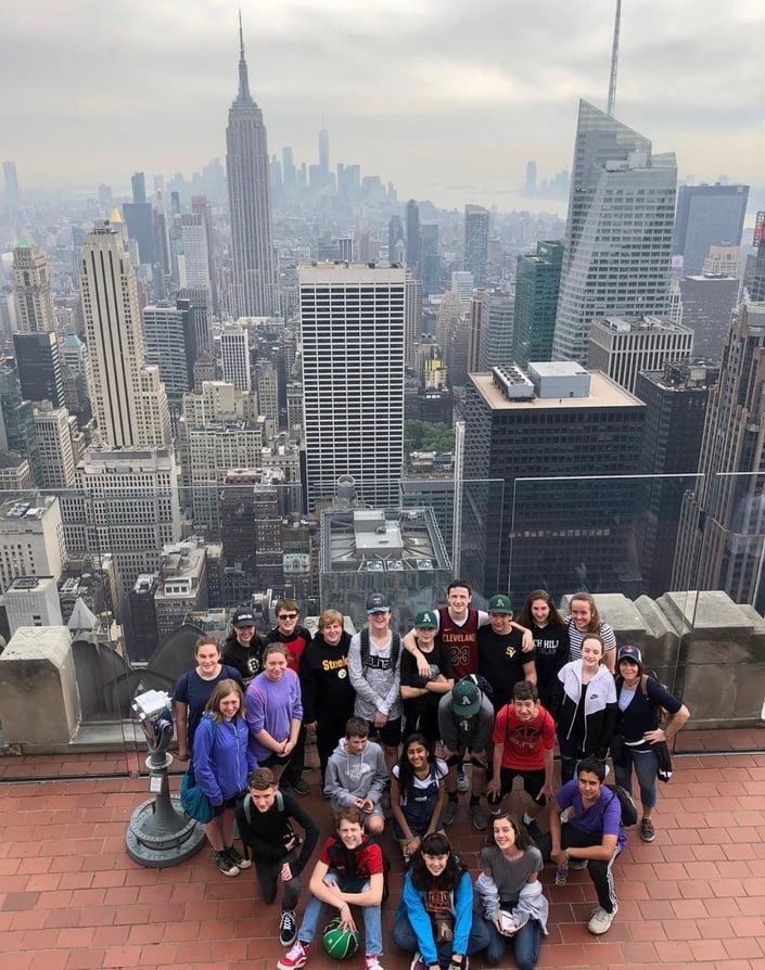 School Trip to visit NYC Movie Locations
