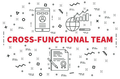 This image depicts a cross-functional team