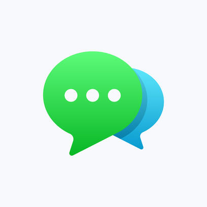 Two live chat bubbles