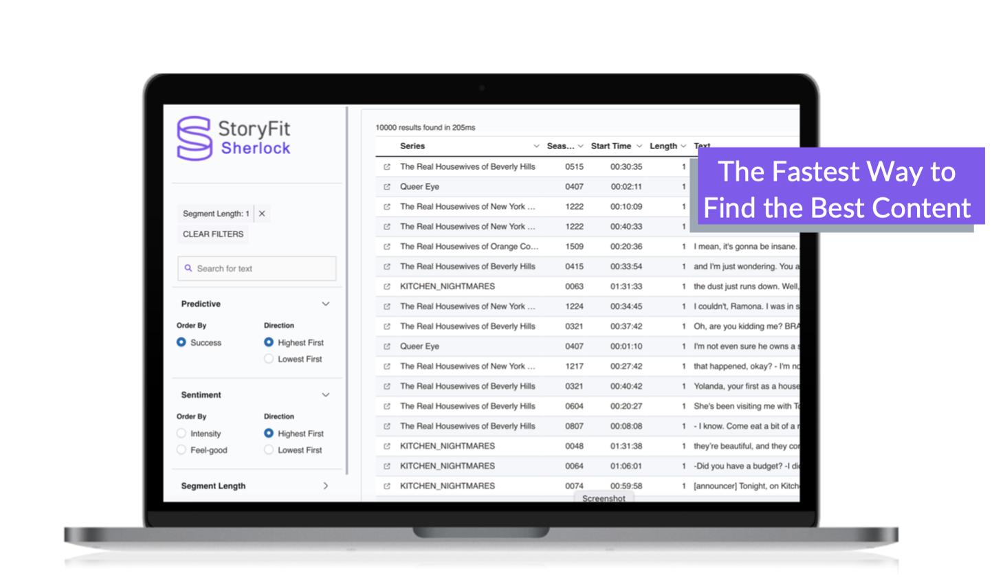 StoryFit Sherlock