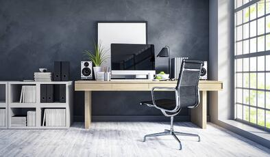 Organized and clean desk