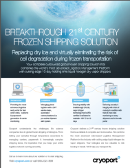 Cryoport Global Frozen Shipping Factsheet