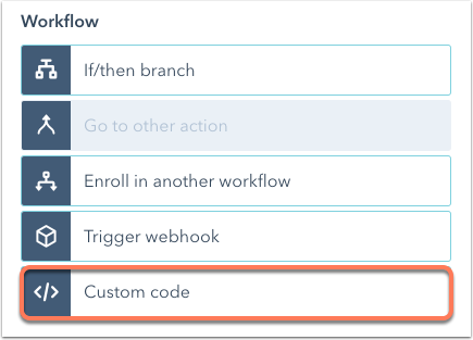 custom-code-action-select