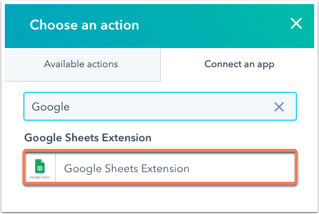 google-sheet-extension