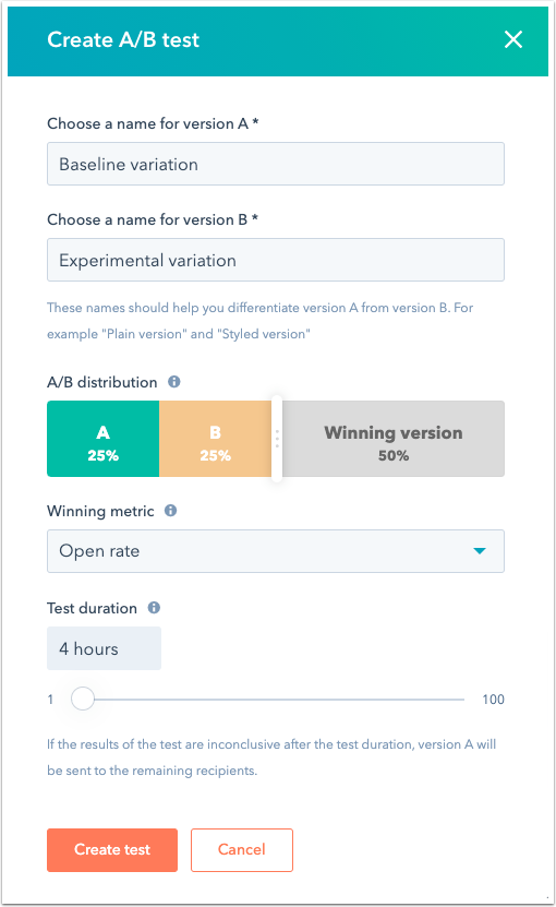 create-a-b-email-test-dialog-box