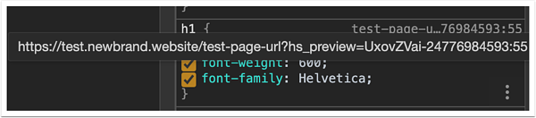 inspect-css-page-url