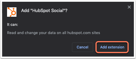 add-hubspot-social-extension-dialog