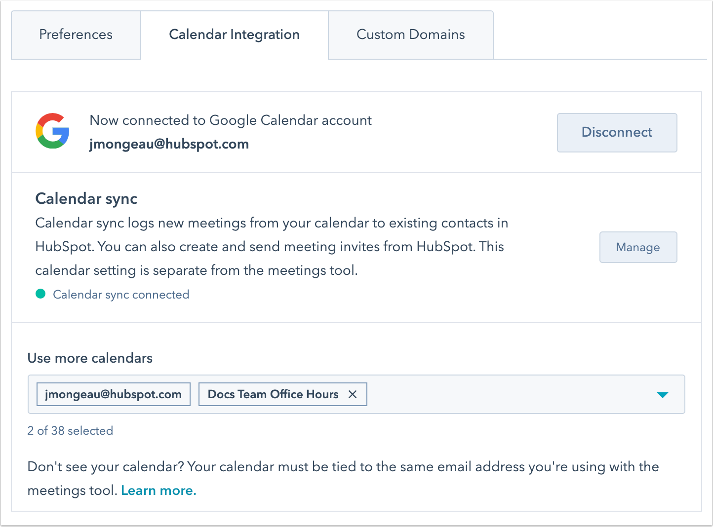 calendar-integration-settings