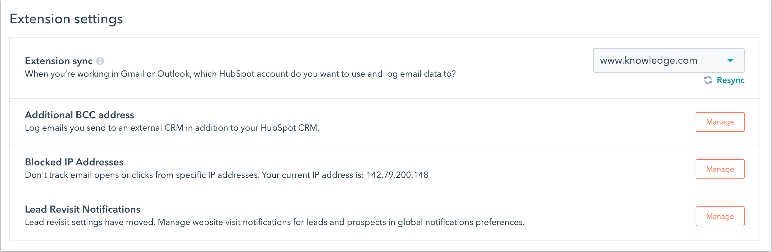 manage-your-hubspot-extension-settings