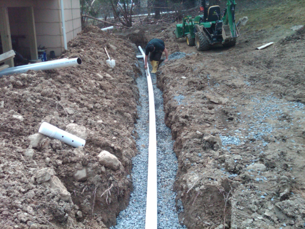 how to clean out footing drains