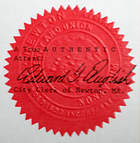 Red seal of authenticity