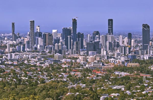 View of Brisbane's city skyline