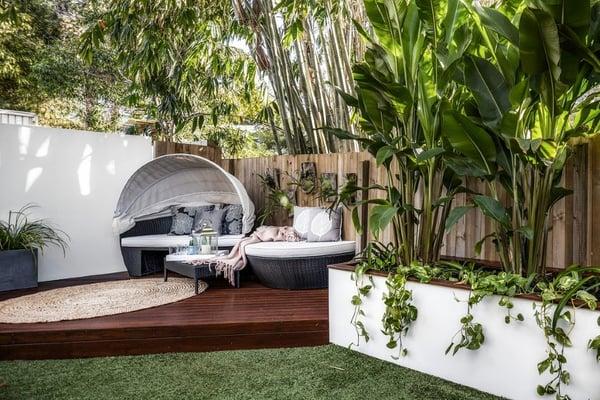 Summer-ready outdoor backyard