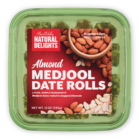 Natural Delights Almond Medjool Date Rolls