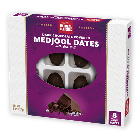 Natural Delights Dark Chocolate Covered Medjool Dates