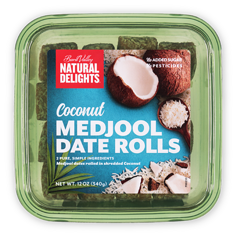 Natural Delights Coconut Medjool Date Rolls