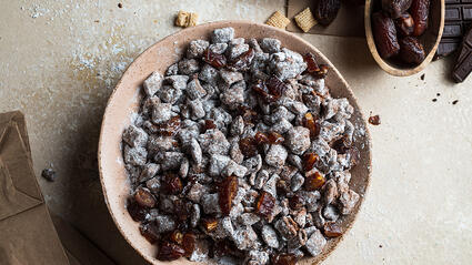 chocolate peanut butter medjool date puppy chow