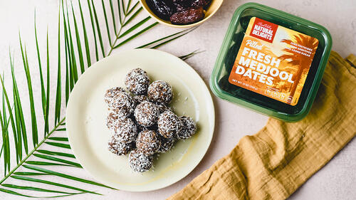 medjool date chocolate tahini bites