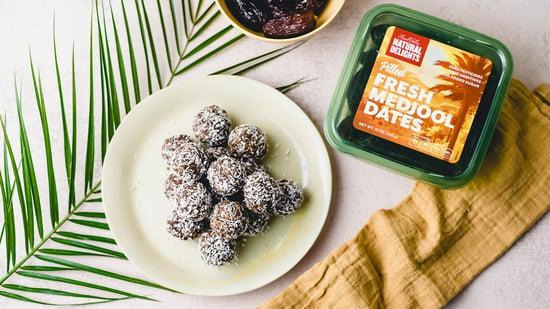 medjool date chocolate tahini bites