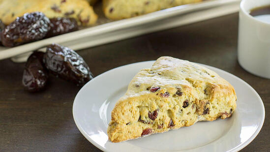 date cranberry orange scones