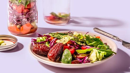 salad jars with medjool dates